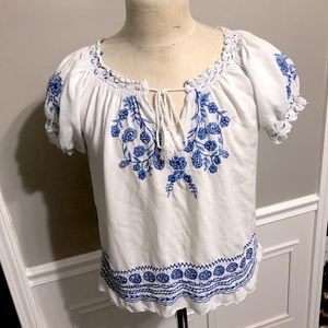 Embroidered Hobo Peasant blouse
